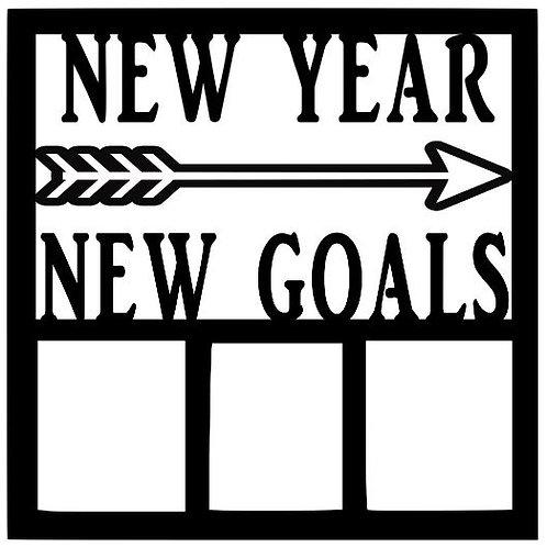 New Year New Goals Scrapbook Overlay