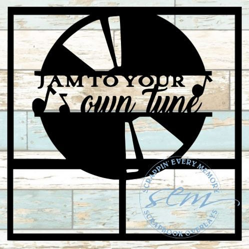 Jam To Your Own Tune Scrapbook Overlay
