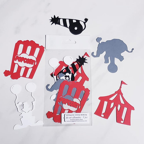Circus Die Cut Silhouette Mini Set