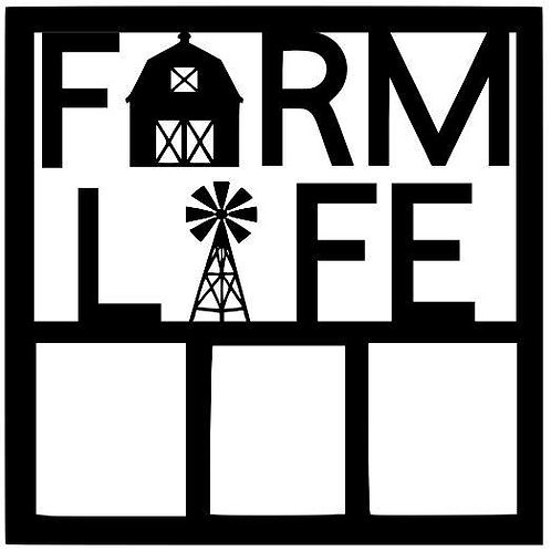 Farm Life Scrapbook Overlay