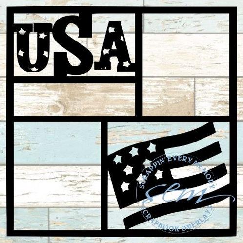 USA Scrapbook Overlay
