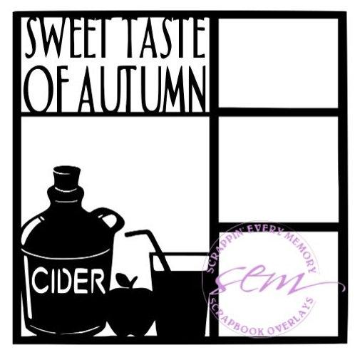 Sweet Taste Of Autumn Scrapbook Overlay