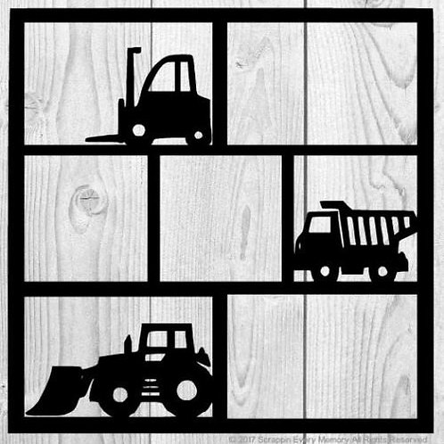 Toy Trucks Scrapbook Overlay