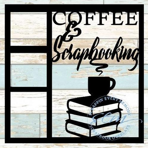 Coffee & Scrapbooking Scrapbook Overlay