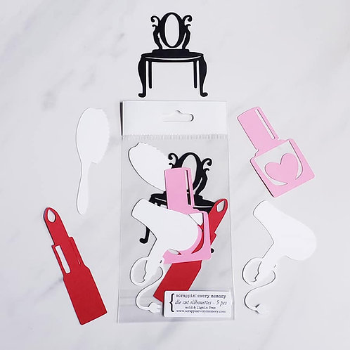 Makeup Die Cut Silhouette Mini Set