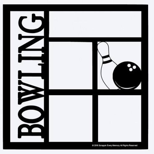 Bowling Scrapbook Overlay