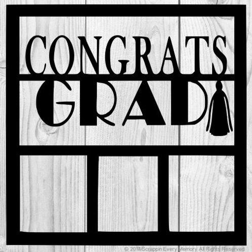 Congrats Grad Scrapbook Overlay