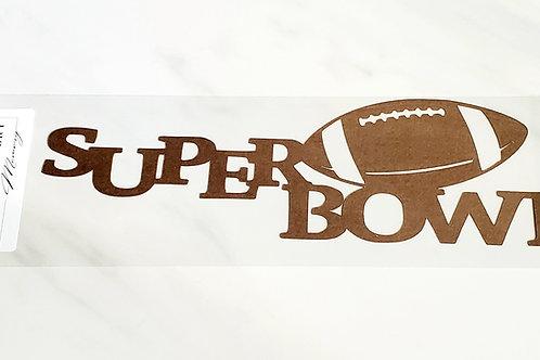 Super Bowl Scrapbook Deluxe Die Cut