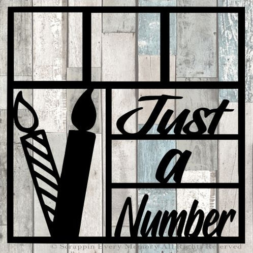 Just A Number Scrapbook Overlay