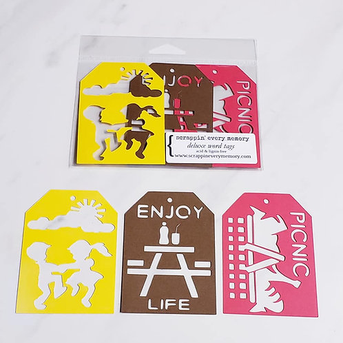 Picnic Deluxe Word Tags