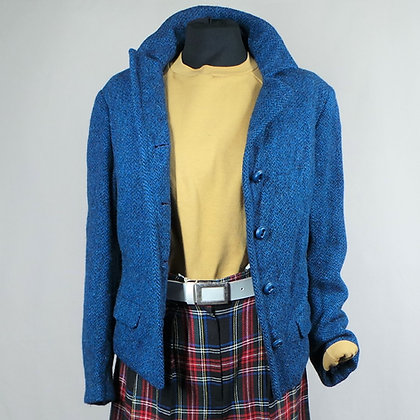 Harris Tweed colbert blauw L