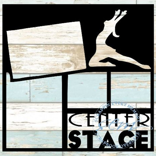 Center Stage Scrapbook Overlay