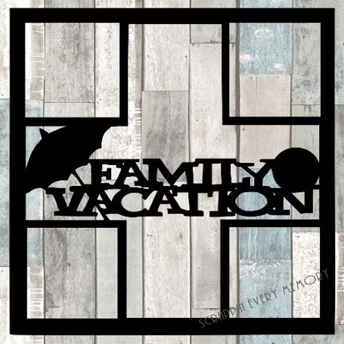 Family Vacation Scrapbook Overlay