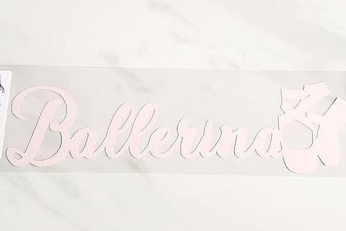 Ballerina Scrapbook Deluxe Die Cut