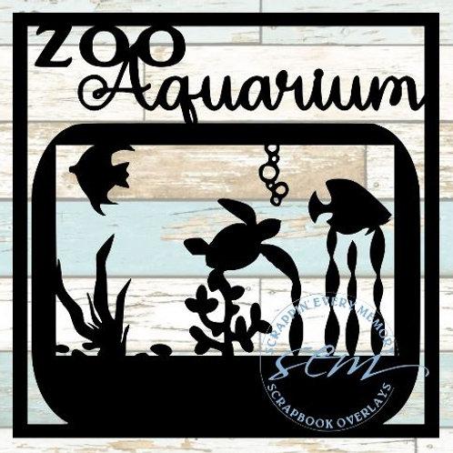 Zoo Aquarium Scrapbook Overlay