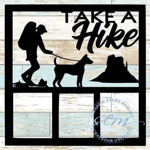 Take A Hike Scrapbook Overlay