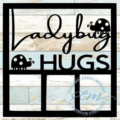 Ladybug Hugs Scrapbook Overlay