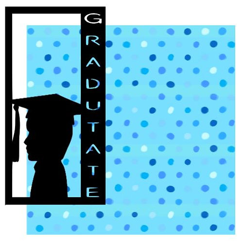 Graduate Vertical Scrapbook Title
