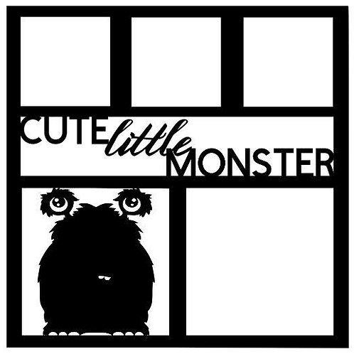 Cute Little Monster Scrapbook Overlay