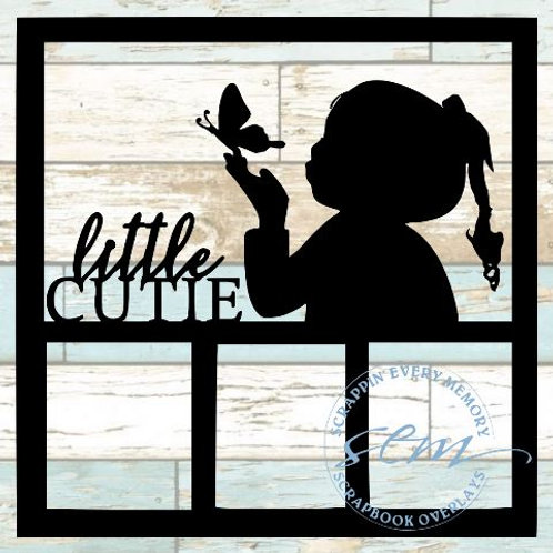 Little Cutie Scrapbook Overlay