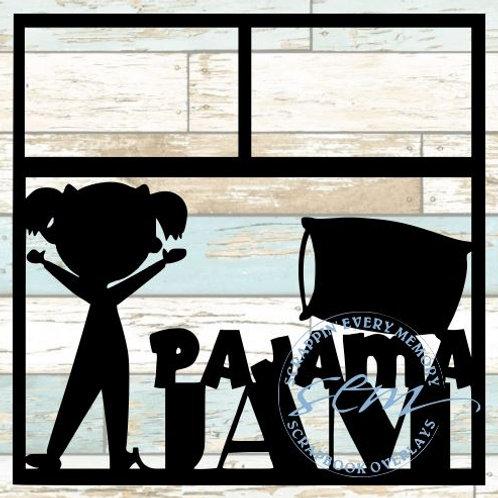 Pajama Jam Scrapbook Overlay