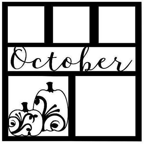 October Scrapbook Overlay