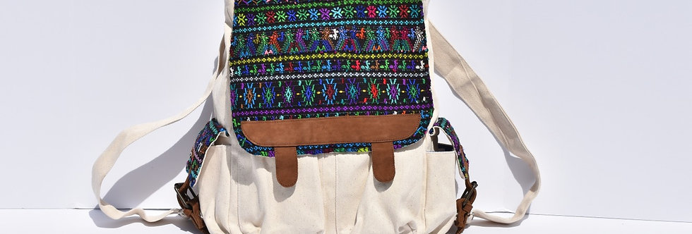 Huipil Bookbag: The Comalapa Multicolor