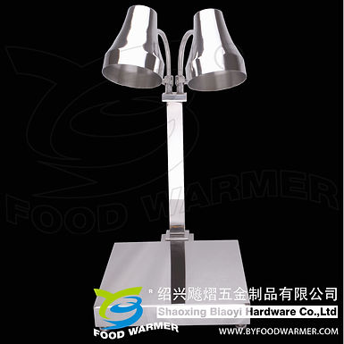 Round 2-Lamp stainless steel vertical base food warmer