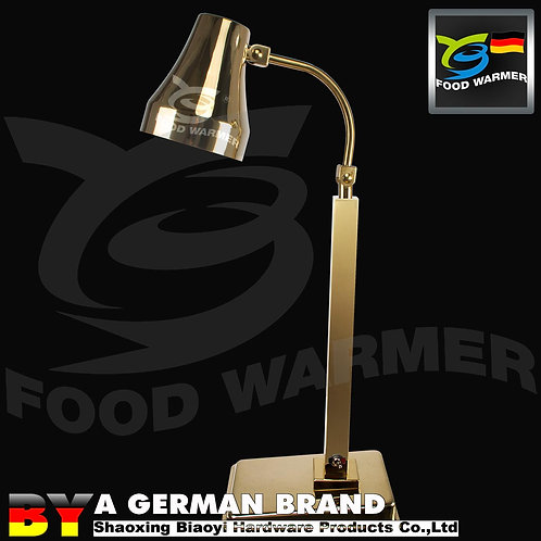One Piece Golden Color Classic Free Standing Heat Lamp with 60°CInfrared Ligh