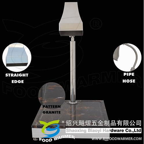 Tetrahedron heat lamp pattern granite base carving station