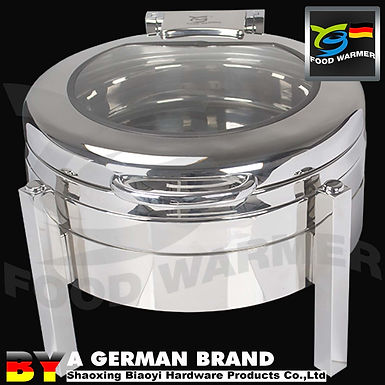 Electric Heating 6L SUS304 Round Chafing Dish with 3in1 Stackable Frame