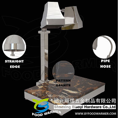 2-in-1 tetrahedron heat lamp granite base carving station