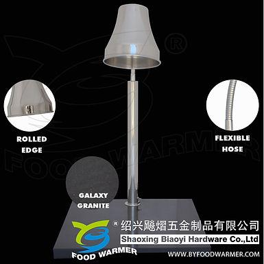 1-Lamp horizontal granite base heat lamp carving station