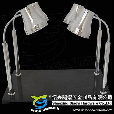 4-Lamp horizontal granite base heat lamp carving station