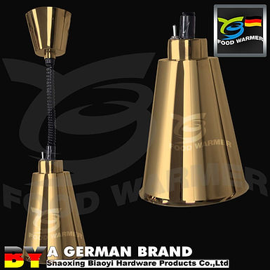 Golden Elastic Hanging Heat Lamp Food Warmer for Commercial Kitchen