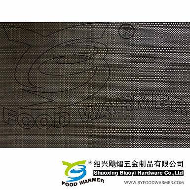 Dark brown color textilene table mat