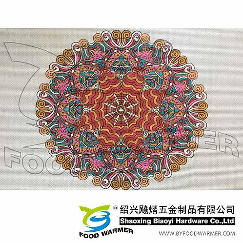 Kaleidoscopic textilene dinner mat
