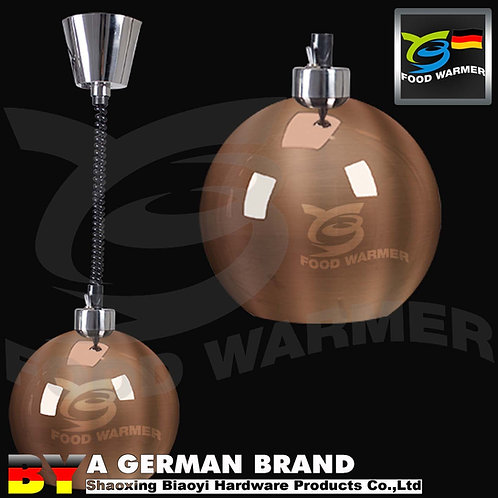 Chef's Favorite Copper Color Mirror Ball SUS304 Infrared Elastic Heating Light