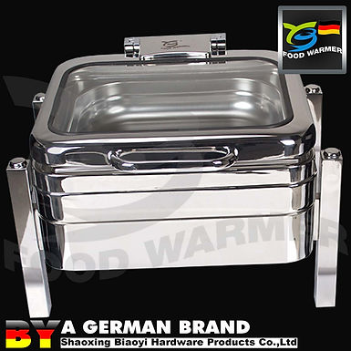 Whole SUS 304 Square GN2/3 Chafing Dish Fit toCompact Storage Restaurant