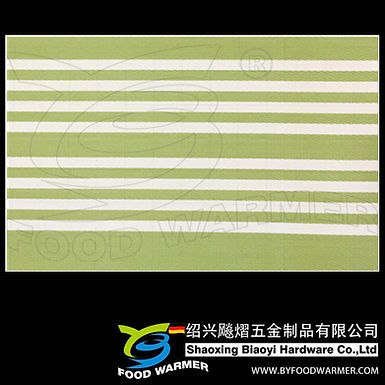 Canvas green strips textilene dinner mat
