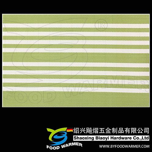 Canvas green strips textilene dinner mat