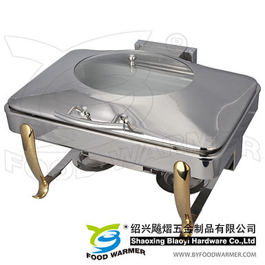 Golden feet standard oblong electric heating chafing dish