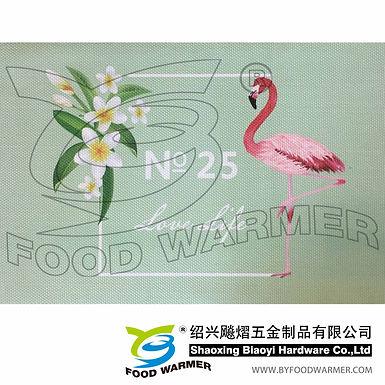 Tropical pattern textilene dinner mat