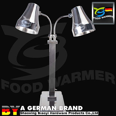 Dual 60°C Infrared Heat Lamp Made of SUS304Rust Proofand Food Contact Safe