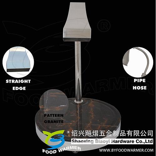 Tetrahedron heat lamp pattern granite round base carving station