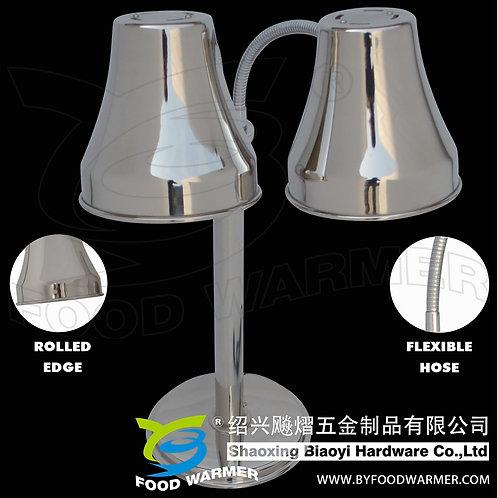 2-Lamp round base heat lamp food warmer
