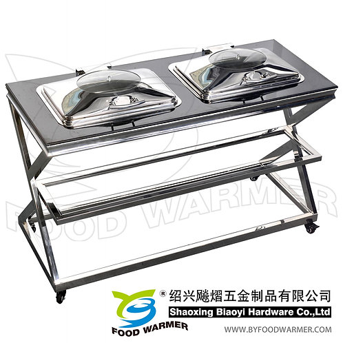 Double-chafer mobile cutlinary station