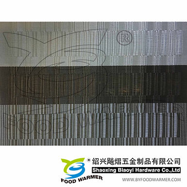 Black textilene dinner mat
