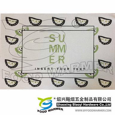 Green melon textilene dinner mat