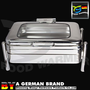 Electric Heating Oblong Chafing Dish with SUS304 3in1 Heating Frame